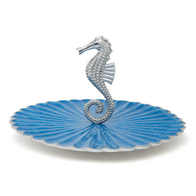 NEW Julia Knight By the Sea Seahorse Azure Handled Server