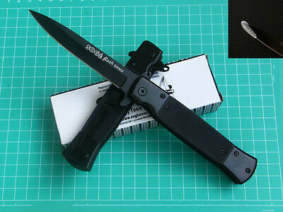 Assisted Opening SOG Knife Tactical Rescue Camping Pocket Saber Gift + Protector