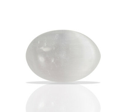 Large Selenite Chakra Healing Stone Set Polished Palm Stone