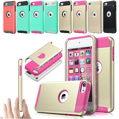 For iPod Touch 6th 5th Gen Hybrid Shockproof Heavy Duty Rubber Impact Cover Case