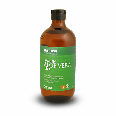 Melrose Organic Aloe Vera Juice 500ml Detox Drink Aid Digestion Alkalise Body