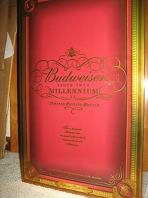 Budweiser Millenium Limited Edition Bottle And Glass Set