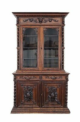 5506020 : Antique French Henry II Renaissance Carved Bookcase