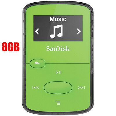 SanDisk Clip Jam Green MP3, 8GB Digital Media Player – NEW in sealed retail box