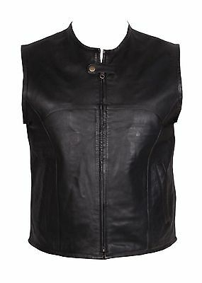 REAL LEATHER WAISTCOAT Biker Motorcycle MotorBike Black / Harley Knight Rider