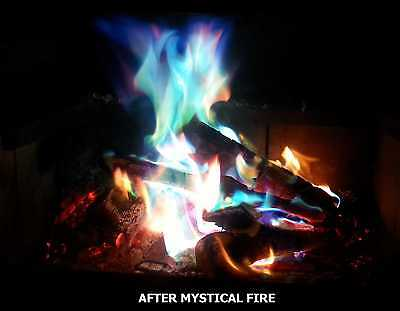 MYSTICAL FIRE 6 pkts - Magical Colourful Flames Camping Fun Rainbow Campfire