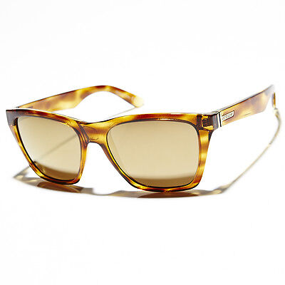 New Mens VonZipper Booker Sunglasses Tortoise Shell/Ionised Gold Lens Sale