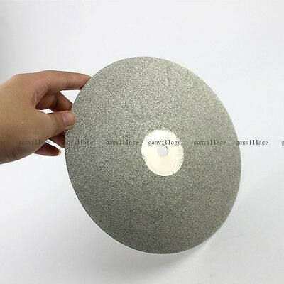 "100# 8""  Diamond Coated Flat Lap Wheel Jewelry Lapidary Polishing Grinding Disc"