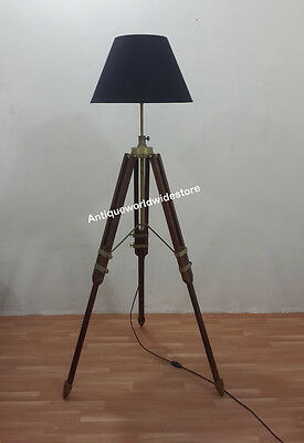 Floor lamps lamps electric lamps lighting collectibles page 81 nautical tripod floor lamp tripod lamp shade hand made home decorative mozeypictures Images
