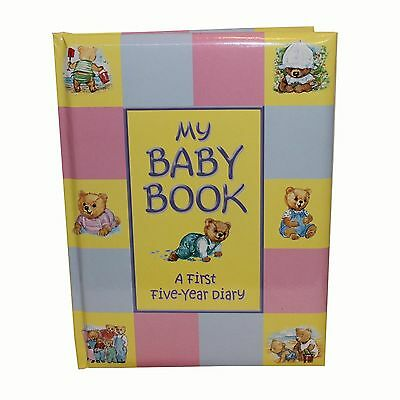 Baby Record Book Padded Keepsake Diary - Birth To 5 Years - Ideal New Baby Gift