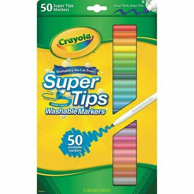 Crayola 50ct Washable Super Tips Colouring Markers