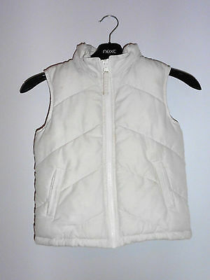Lovely Cream Padded Gilet Badywarmer with Hood from Cherokee - Age 4-5 Yrs