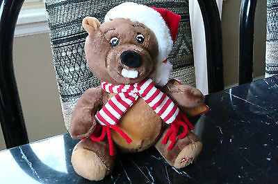 "BOSLEY*6"" Beaver Beanbag Plush Toy*SEARS*Christmas*2011*NEW*"