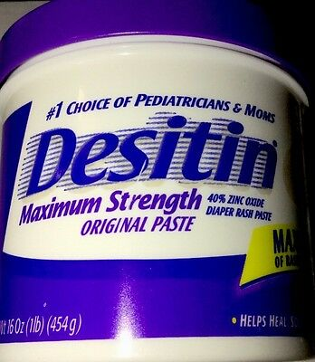 DESITIN Maximum Strength Paste Rash Ointment Baby Diaper Cream 16 Oz