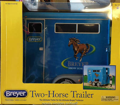 Breyer Model Horse Accessories Traditional Size 2 Horse Trailer in Blue