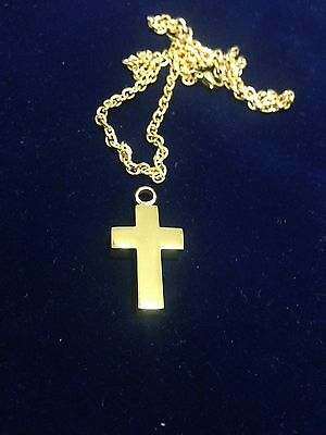 Memorial Cremation Jewellery/Pendant/Urn/Keepsake for Ashes-Gold Cross & Chain