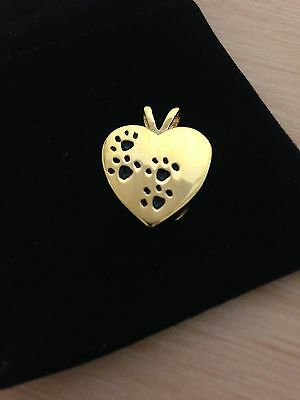 Memorial Pet Cremation Jewellery/Pendant/Urn/Keepsake for Ashes-Gold Heart