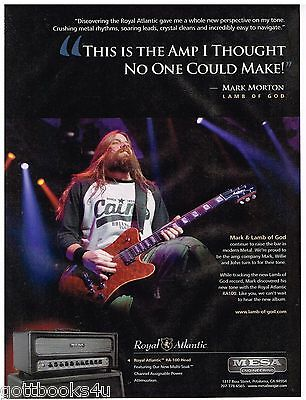 Mesa Amps - Lamb of God - Mark Morton  - 2012 Print Advertisement