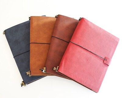 Leather Cover Replaceable Diary Refillable Notebook Midori style travel Journal