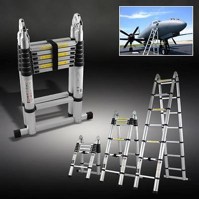 3.8m Telescopic Foldable Extendable Multipurpose Aluminium A Frame Ladder DLT706