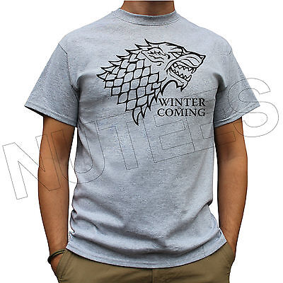 Winter Is Coming House Stark Game of Thrones Men Ladies T-Shirts Vest S-XXL Size