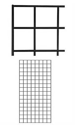 Case of 4 New Retails Black Finish Wire Grid Wall Panel 2' x 4'