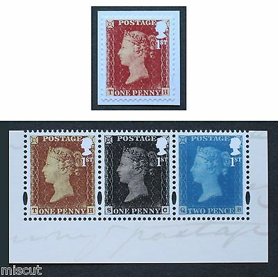DY16 500 Years of Royal Mail Prestige  1st RED, Black & BLUE