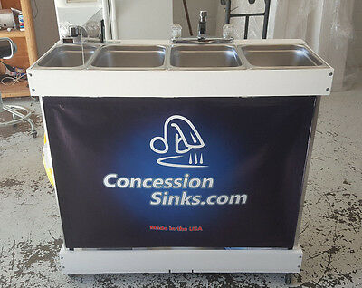 Concession Sink, Large Propane **Portable 3 compartment sink**