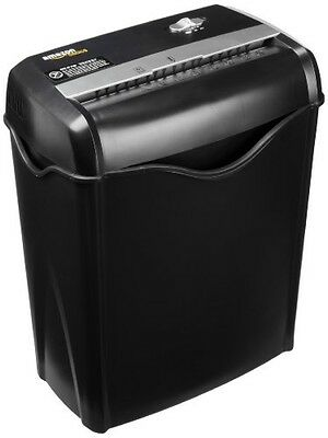 AmazonBasics 6Sheet CrossCut Paper and Credit Card Shredder, New, Free Shipping