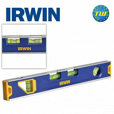 """Irwin 12"""" Magnetic Torpedo Spirit Level with 4x Vials 300mm V Groove Levels"""