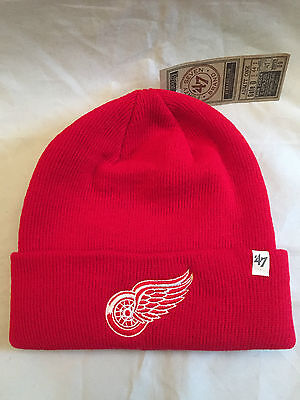 becabba0d Detroit Red Wings Mens Winter Knit Hat . Cap NHL NEW Lions Tigers Beanie  Datsyuk