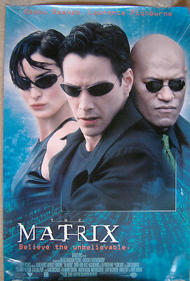 The Matrix (1999) Original S/S International One-Sheet poster, Keanu Reeves