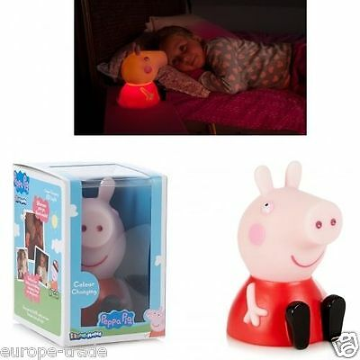 Peppa Pig Illumi-Mate Led Colour Changing Night Light Childern Kids Pink