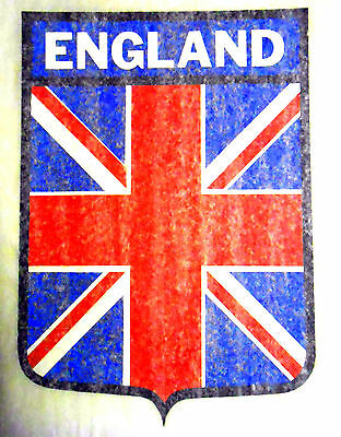 "Vintage 1974 Roach ""ENGLAND"" Shield Design Iron-on Transfer"