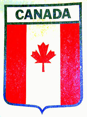 "Vintage 1974 Roach ""CANADA"" Shield Design Iron-on Transfer"