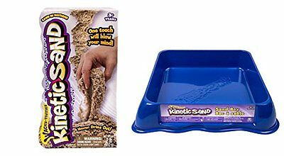 2LBS Miracle Kinetic Sand Playset with Sandbox for Storage & Tools
