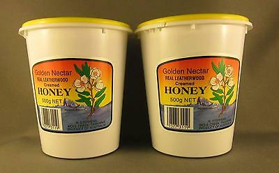 Creamed Leatherwood Honey, Twin Pack,  2 * 500gms, free shipping