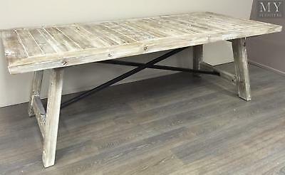 Gustave Dining Table Reclaimed Wood Industrial Style