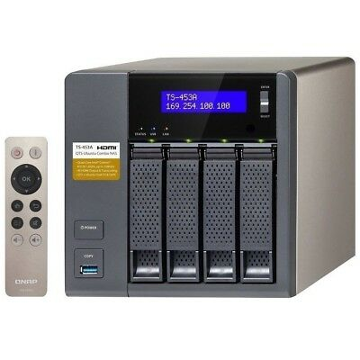 QNAP TS-453A-4G 4 Bay High performance NAS for SMB Intel QC 1.6Ghz - Diskless