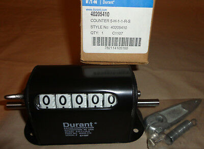 Eaton 5-H-1-1-R-S Stroke Counter 40205410 Durant 5 Digit 5H11RS NEW