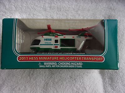 Hess Miniature Helicopter Transport 2011 New In Box