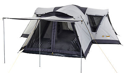 Oztrail Dome Tent Villa 12 Person 4 Room Living Area Family Camping Hiking