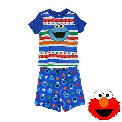 Baby Boys Elmo Pjs Pyjamas Set Brand New Sizes 00, 0, 1 And 2