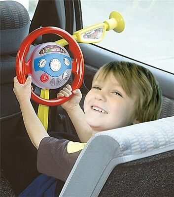 Childrens Electronic Backseat Driver Car Seat Steering Wheel Toy Game