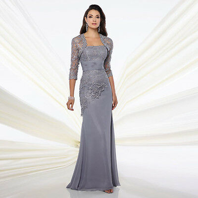 Long Mother of the Bride Dresses with Jacket Formal Party Evening Dress Custom