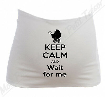 Bandeau  Grossesse Maternité Humour Keep Calm and Wait for Me /  Future maman