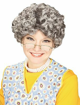Women's Yo Momma Curly Costume Grandma Wig New!