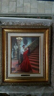 Gone With The Wind William L. Maughan's I Love You Scarlett Canvas , Coa