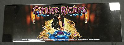 "Aristocrat Viridian Slot Machine Belly Insert For ""genie's Riches"""