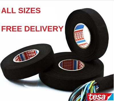 TESA TAPE 51608 ADHESIVE CLOTH FABRIC WIRING LOOM HARNESS 15m 25m 19mm 15mm 9mm